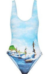 Orlebar Brown Almada Printed Swimsuit Light Blue