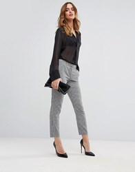 Sisley Trouser In Dogtooth Check In Dogtooth Check Black White
