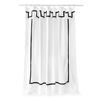 Jonathan Adler Santorini Shower Curtain Black And White