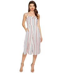 Unique Vintage Wide Leg Nancy Romper Beige Striped Women's Jumpsuit And Rompers One Piece White