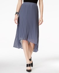 Ny Collection Pleated Hi Low Skirt