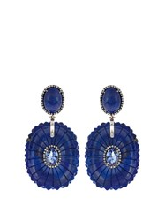 Silvia Furmanovich Diamond Tanzanite Lapis And White Gold Earrings Blue