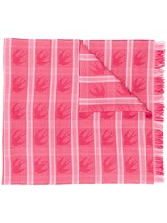 Mcq By Alexander Mcqueen Swallow Checked Scarf Pink