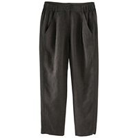 Poetry Linen Tailored Trousers Charcoal