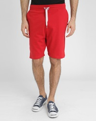 Sweet Pants Red Cotton Fleece Loose Fit Shorts