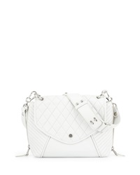 Ash Cleo Quilted Crossbody Bag Off White