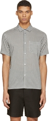 Marc By Marc Jacobs Green And White Gingham Check Shirt