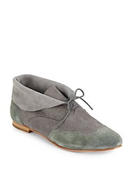 Wolverine Bettula Two Tone Suede Wingtip Chukka Boots Grey