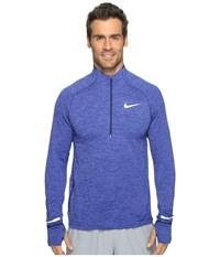Nike Element Sphere Half Zip Binary Blue Heather Reflective Silver Men's Long Sleeve Pullover Binary Blue Heather Reflective Silver