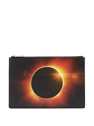 Givenchy Eclipse Print Coated Canvas Pouch 1061 Black Multi