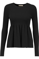 Michael Kors Collection Jersey Top Black