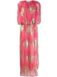 Ailanto Long Sequinned Palm Dress Pink