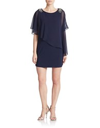 Xscape Evenings Asymmetrical Shift Dress Lovely Navy