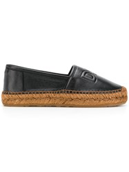 Dolce And Gabbana Logo Embossed Espadrilles Black