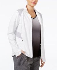 Ideology Plus Size Mesh Trim Jacket Only At Macy's White