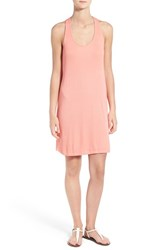 Women's Splendid Twist Back Tank Dress Sunkissed Pink