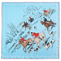 Joules Bloomfield Silk Scarf Duck Egg Multi