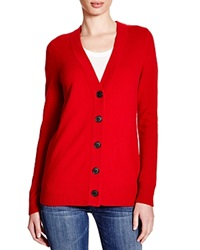 C By Bloomingdale's Cashmere Boyfriend Cardigan Chili Pepper