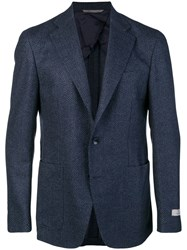 Canali Tailored Suit Jacket Blue