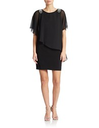 Xscape Evenings Asymmetrical Shift Dress Black