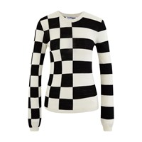 Courreges Two Tone Jumper White And Black