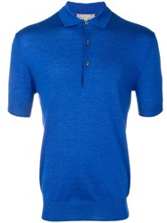 N.Peal Knitted Polo Shirt Blue
