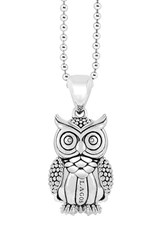 Lagos Women's 'Rare Wonders Owl' Long Talisman Necklace Silver Owl
