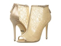 Badgley Mischka Glowing Latte Satin Mesh Women's Boots Gold