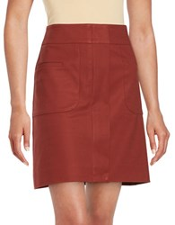 Lord And Taylor Doubleweave A Line Skirt Rust