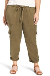 Lucky Brand Plus Size Women's Wide Leg Crop Pants