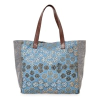East Hand Embroidered Bag Navy