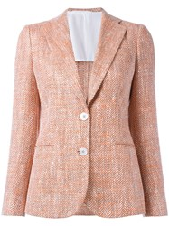 Kiton Two Button Blazer Yellow Orange