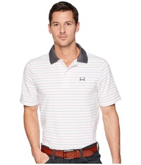 Cinch Athletic Tech Polo Striped White Clothing