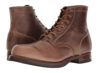 Frye John Addison Lace Up Tan Smooth Pull Up Leather Men's Boots Brown
