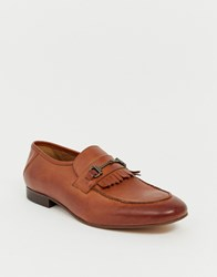 Hudson H By Chichister Bar Loafers In Tan Leather