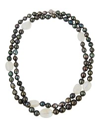 Belpearl Long 14K Tahitian Pearl And Moonstone Rope Necklace Women's
