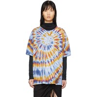 Raquel Allegra Multicolor Oversized Tie Dye T Shirt