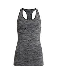 Pepper And Mayne Racer Back Compression Performance Tank Top Grey