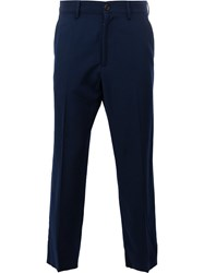Gucci Cropped Tailored Trousers Blue