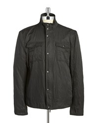 John Varvatos Front Zip Moto Jacket Black