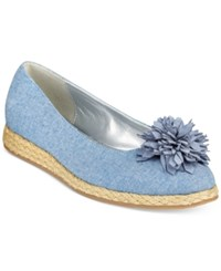 Bandolino Blondelle Slip On Espadrille Flats Light Blue Denim