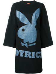 Joyrich Playboy Bunny T Shirt Dress Black