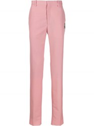 Alexander Mcqueen Embroidered Insect Trousers Pink