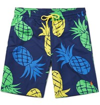Polo Ralph Lauren Long Length Printed Swim Shorts Navy