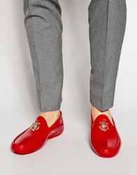 Vivienne Westwood Anchor Orb Loafers Red