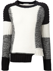 Each X Other Contrasting Panels Sweater