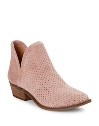 Lucky Brand Kambry Perforated Leather Ankle Boots Blush