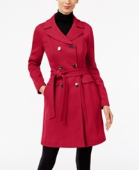 Inc International Concepts Petite Trench Coat Only At Macy's Glam Red
