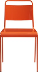 Cb2 Lucinda Orange Stacking Chair