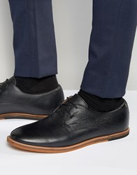 Frank Wright Busby Derby Shoes In Black Leather Black